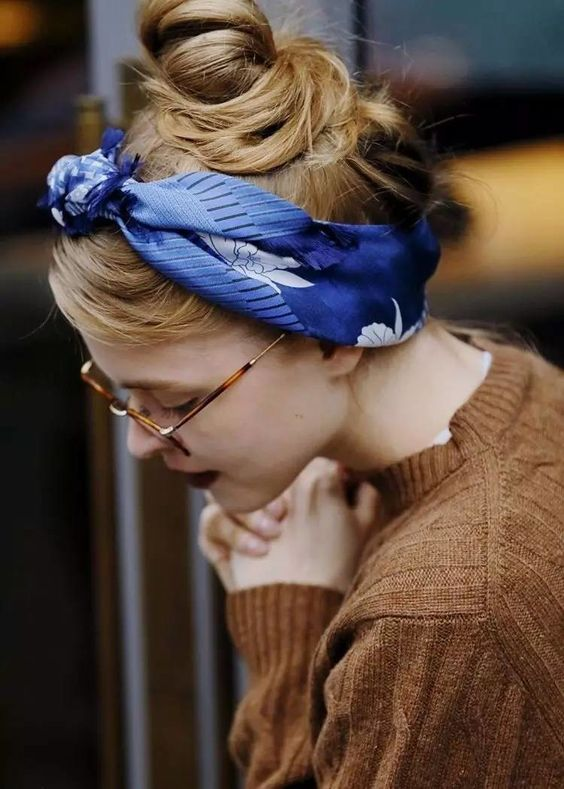awesome hairstyle idea for scarf
