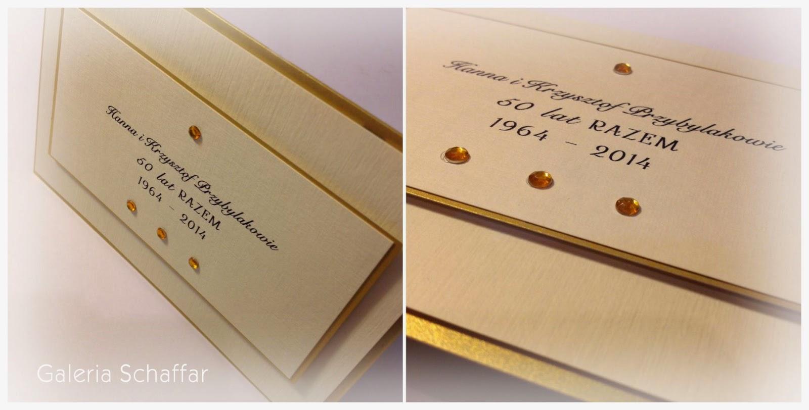 prestiżowe zaproszenia ślubne i jubileuszowe Galeria Schaffar