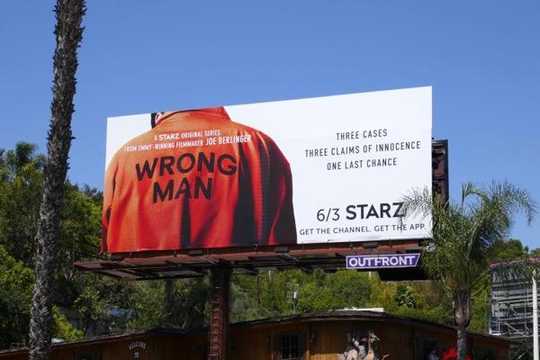 Wrong Man series launch billboard