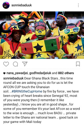 """Sonnie Badu Writes A """"Private Letter"""" To The Black Stars"""