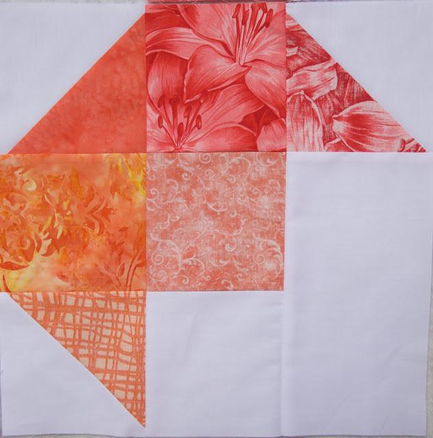 Rainbow rose QAL red corner