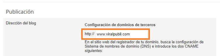 configurar dominio personalizado