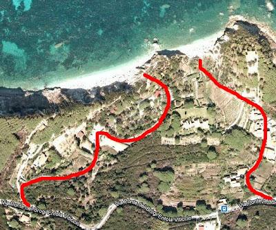 mappa spiaggie Sansone Sorgente