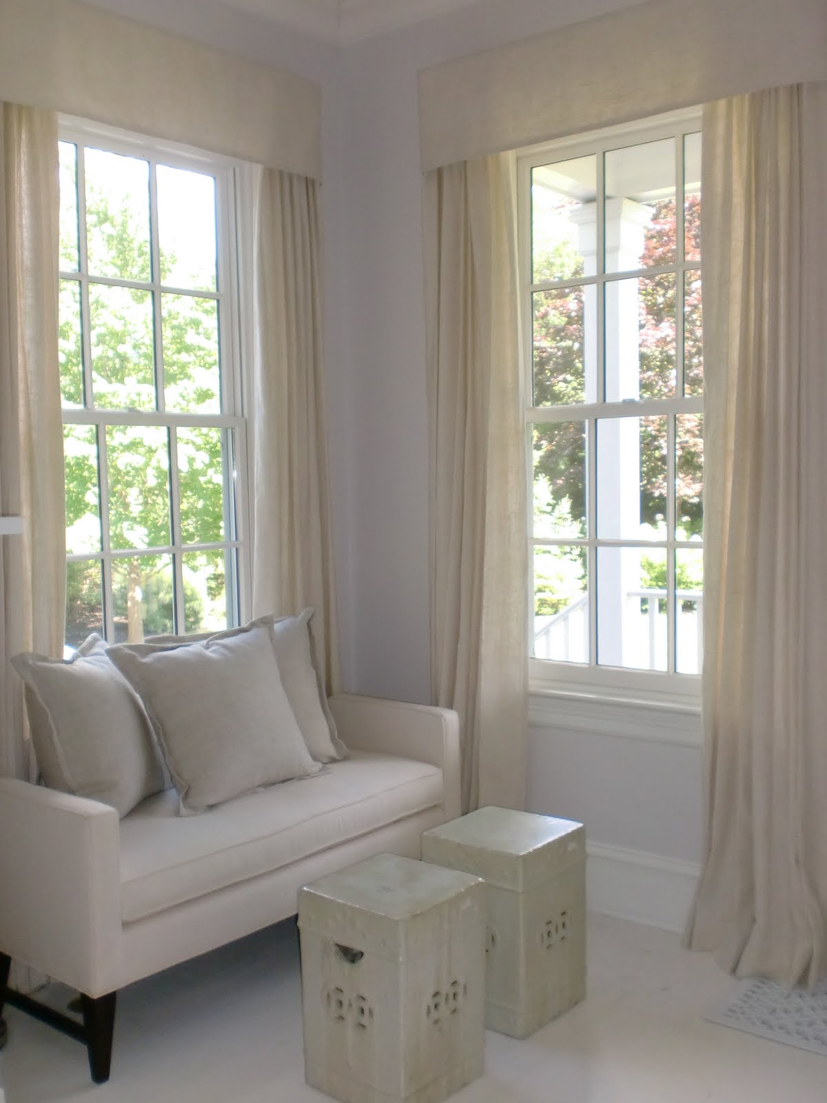 Jeanne Salucci Interior Design Window Treatments Linen