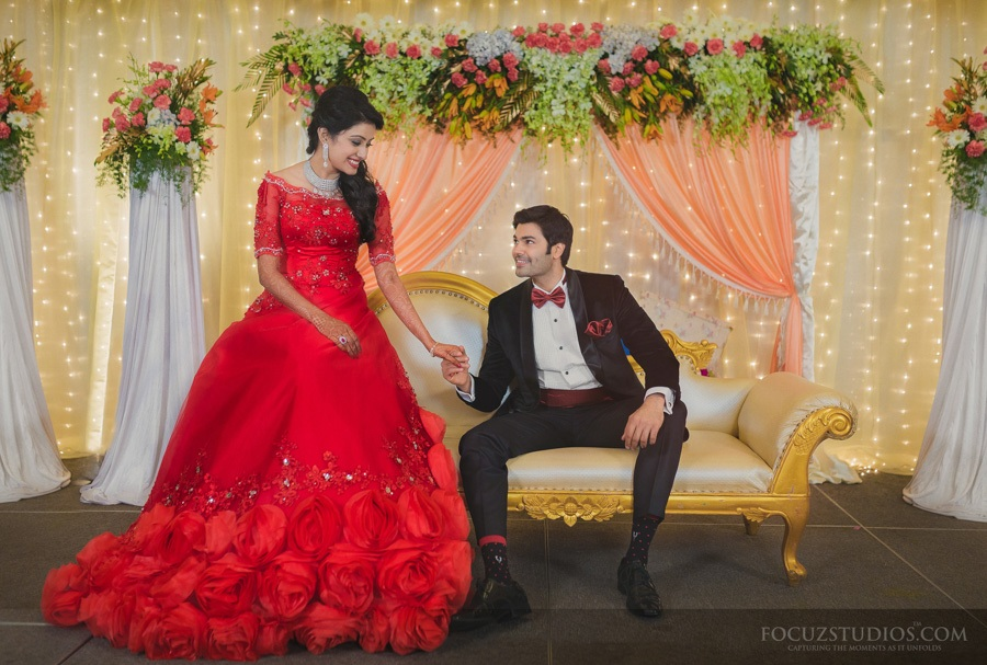 Tamil TV Actress Nisha Krishnan Wedding Reception Photos