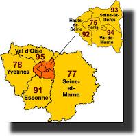 départements région parisienne