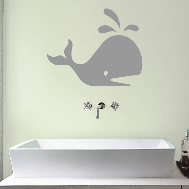 Desain Stiker Dinding untuk Kamar Mandi Cantik
