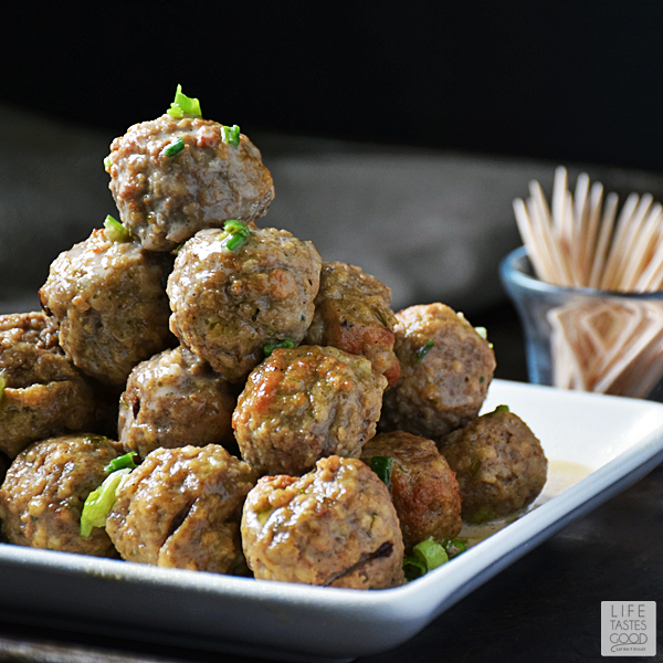 Slow Cooker Swedish Meatballs | by Life Tastes Good are a holiday tradition in our home! I make this tasty appetizer every year to share with family and friends, and it is always a big hit! #LTGrecipes #RHFood