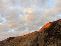 The rising sun alights on Van Tassel Ridge as seen from Fish Canyon access trail through Vulcan Materials' Azusa Rock quarry