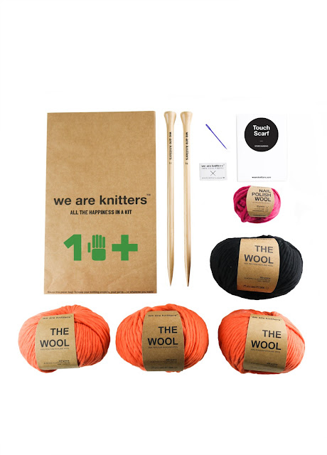 Kit para tejer maxi bufanda de We are knitters