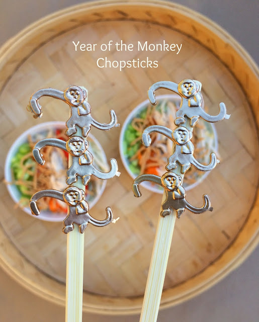 Chinese New Year Chopsticks - Year of the Monkey | Simple DIY using Barrel of Monkeys | www.jacolynmurphy.com
