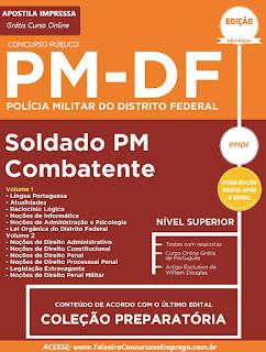 Apostila Impressa PM/DF - Soldado Combatente da PM-DF 2017