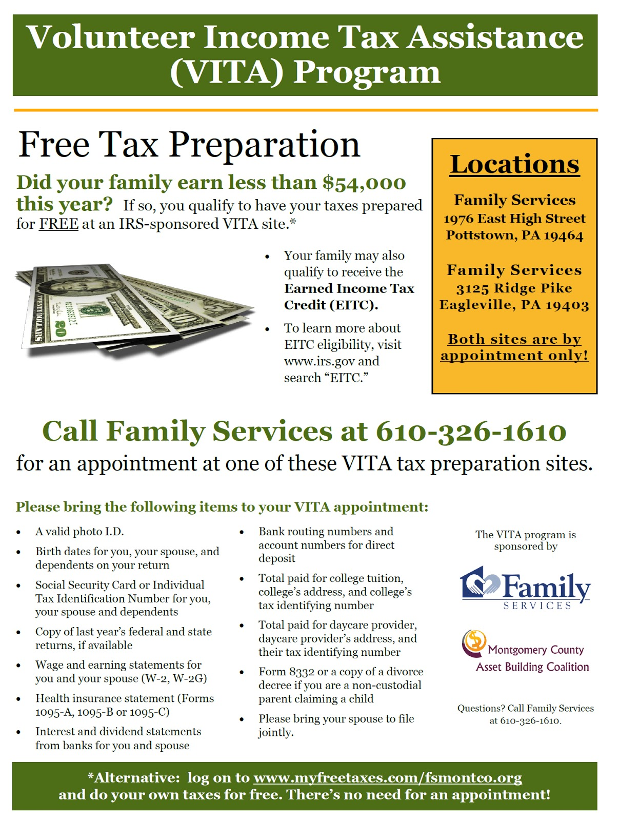 Digital Notebook: Get Your Taxes Done for Free in Pottstown