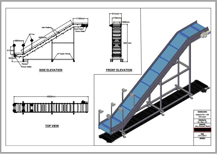Conveyer belt project parts essay