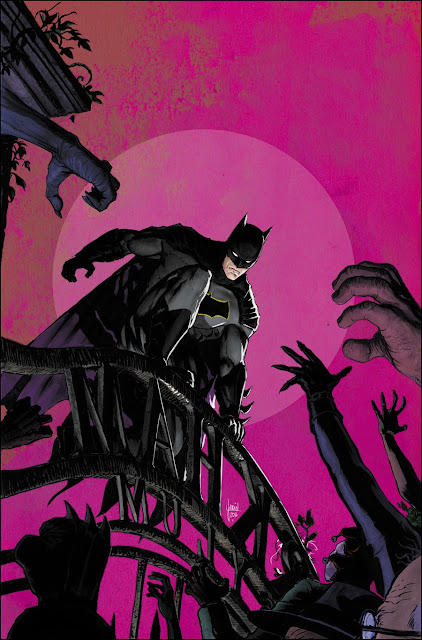"""Três grandes histórias começando por """"I am Gotham"""", no número 9, e seguido de """"I am Suicide"""", afirma o escritor, comentando que isso era precisamente o que queria fazer desde a primeira vez que tomou as rédias das histórias de Batman,"""