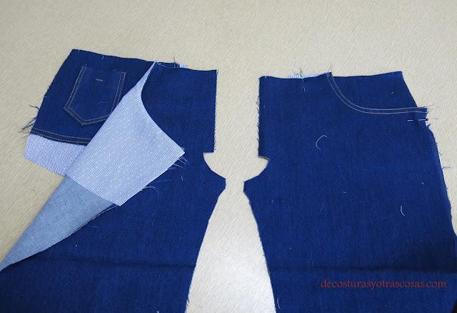 jeans con cinco bolsillos