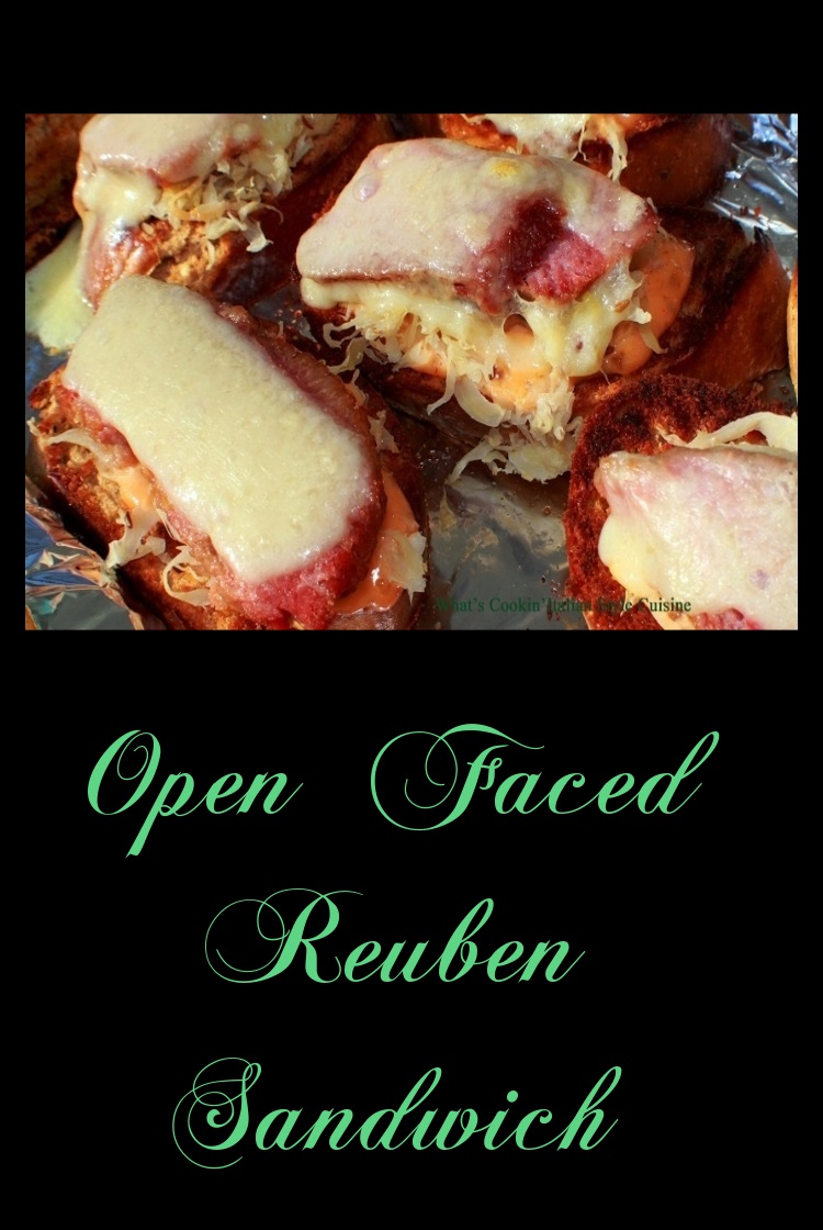 Open Faced Reuben Appetizer