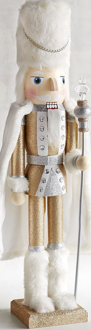 "Pier One Gold Glitter 24"" Soldier Nutcracker"