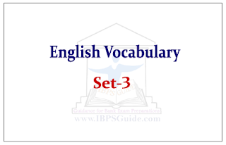English Vocabulary Set-III (with meaning and example)