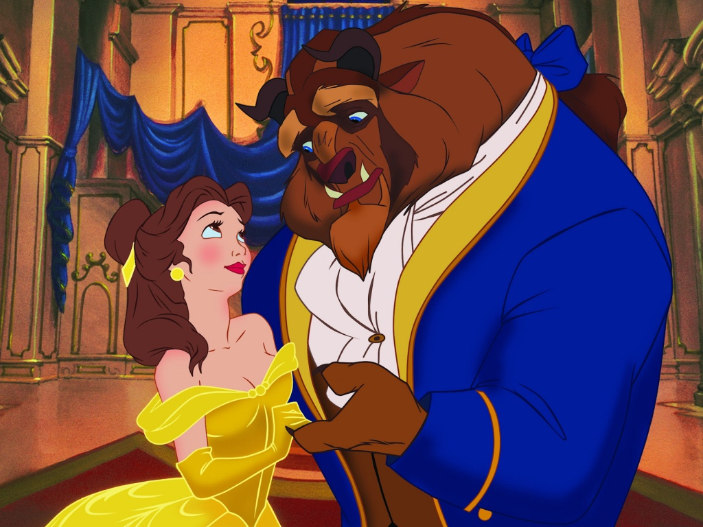 Beauty And The Beast Cartoon Wallpaper: Disney Beauty And The Beast Cartoon Wallpaper