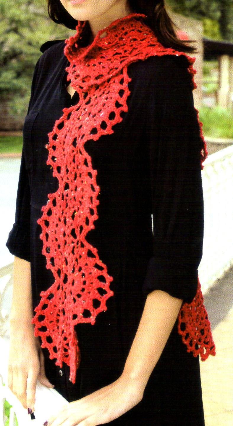 tejidos artesanales en crochet bufanda ondulada tejida en. Black Bedroom Furniture Sets. Home Design Ideas
