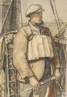 Example of the sort of life jacket Connie might have been wearing to sleep in © IWM (Art.IWM ART 928)