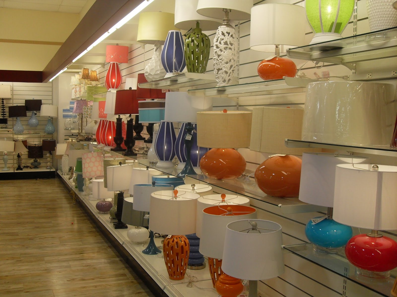 Here S A Glimpse At The Lamp Isle Homegoods I M Like Kid In Candy Every See All Those Delicious Colored Lamps