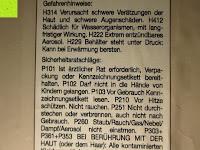 Scheibenreiniger Gefahrenhinweise: Naturstein und Specksteinofen-Pflegeset 4 tlg.