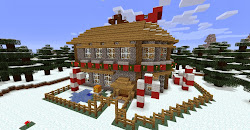 minecraft build cool christmas xbox things 360 santa edition builds stuff houses themed xmas special roof