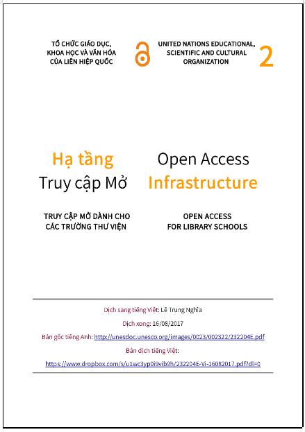 'Hạ tầng truy cập mở' - bản dịch sang tiếng Việt