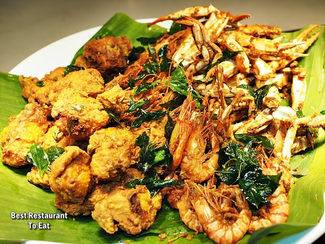 Four Points By Sheraton Puchong Buffet  Nasi Kandar With Fried Prawns Fried Squids