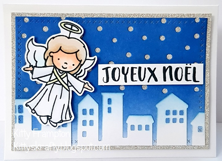 For This Card I Used Some Distress Inks To Create The Background I Die Cut It Using The Die Namics Snowfall And Added Some Silver Glitter Card Behind It