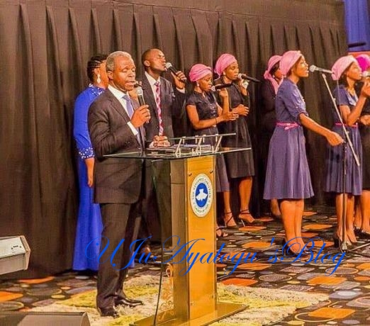 Photos: Acting president Yemi Osinbajo pictured preaching at a branch of RCCG in Abuja yesterday