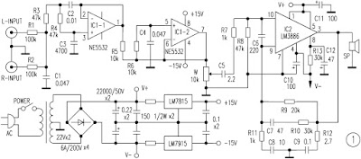 superbass circuit schematic lm3886