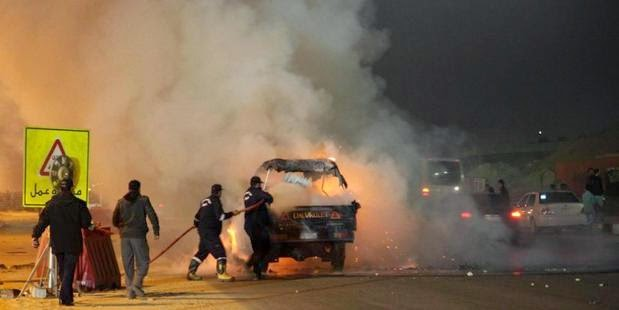 Egyptian football riot with a stampede and fighting between police and fans