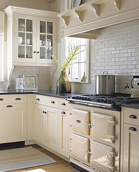 Off White Kitchen Cabinets With Subway Tile: A Home In The Making: {inspired} Lovely Kitchens
