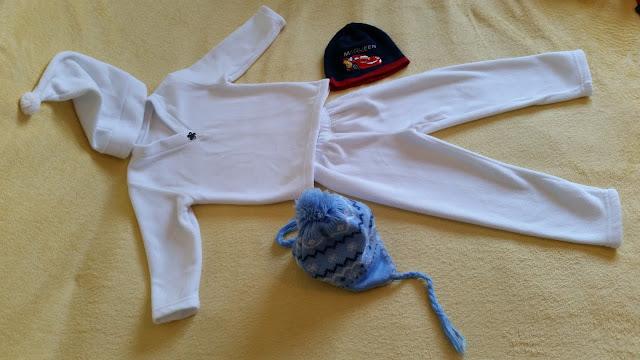 Costum de serbare din polar alb - fulg de nea, om de zăpadă oferit de omul din palarie