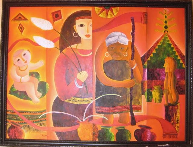 Tác phẩm hội họa về đề tài Tây nguyên 12