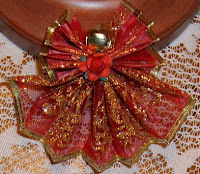 Fan folded ribbon angel ornaments