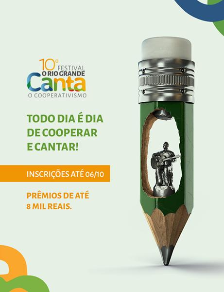 Inscrições para o 10° Festival O Rio Grande Canta o Cooperativismo encerram no dia 6 de outubro