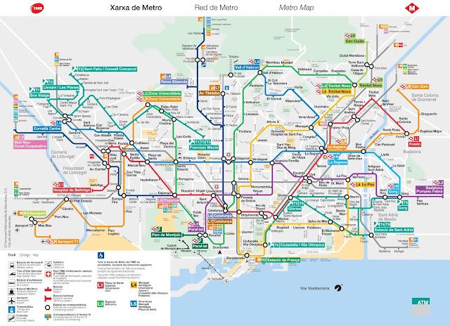 metro Barcelona mapa