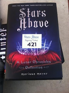 Amber's ticket signing number at the Marissa Meyer event in Irving, Texas. Photo taken by Amber, the Blonde Writer.