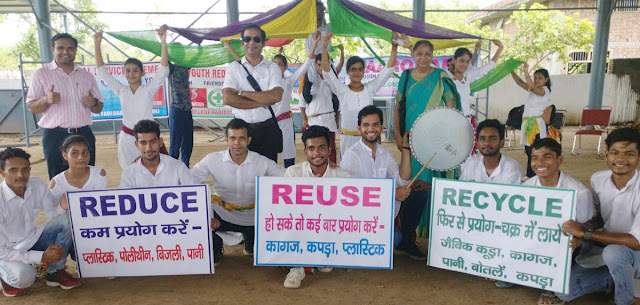 Cleanliness message given by students by the small play in Swachh Bharat Summer Entrepreneurship Program