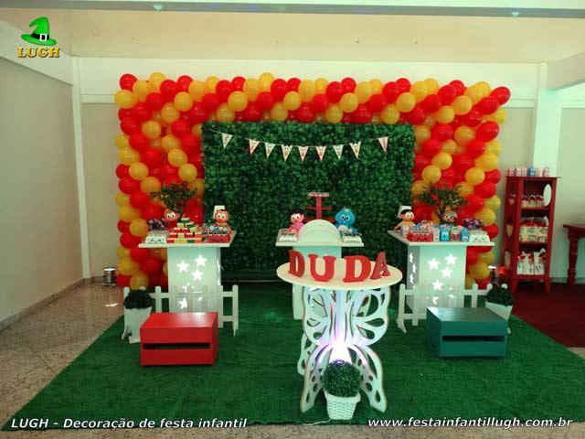 Decoração de festa de aniversário Turma da Mônica - Mesa temática provençal para festa infantil  - Barra - RJ