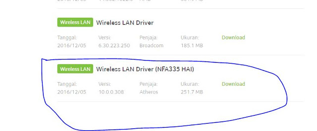 ES1-421 Wireless driver Windows 10 64bit