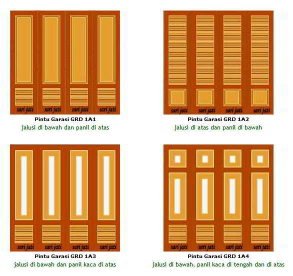 Contoh Model Desain Pintu Garasi Modern Terbaru