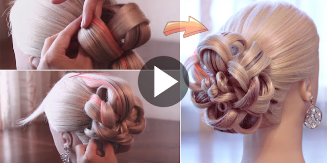 How To Create Easy And Quick Flower Bun Hairstyle