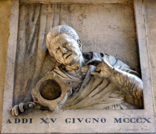 Plaque in the Merceria to Giustina Rossi, the Vecia del Morter, Venice