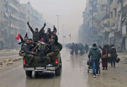 ساعات قليلة والجيش السورى يعلن تحرير حلب ,الجيش السورى يعلن السيطرة على 98 % من حلب