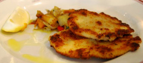 Breadcrumbs Coated Grilled Chicken with Roasted Vegetables